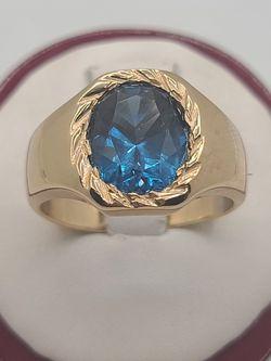 14k Gold London Blue Topaz Ring for Sale in Croydon,  PA