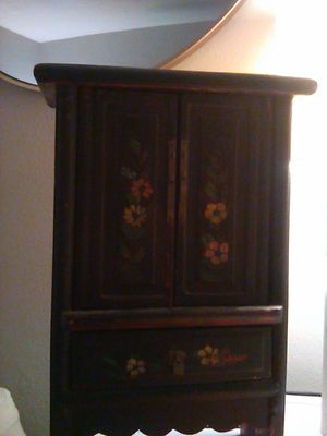 Fijian red lacquer cabinet for Sale in San Clemente, CA