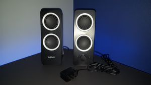Logitech pc/computers/monitor audio jack speakers pre-owned for Sale in Miramar, FL