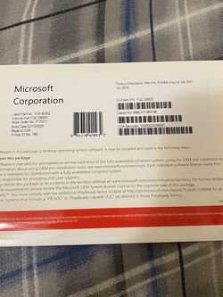 Windows 10 Pro Professional 64 Bit DVD for Sale in Anaheim,  CA