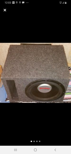 """12"""" Boston Acoustic Subwoofer&Rockford Fossgate Amp for Sale in St. Peters, MO"""