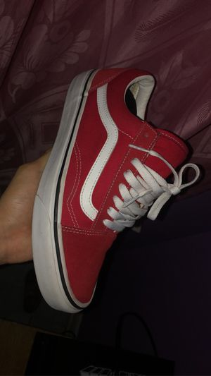 Red vans size 7y for Sale in South Holland, IL