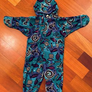 Vtg 90s Patagonia Synchilla Fleece One Piece Suit Aztec 24 Months for Sale in Fife, WA