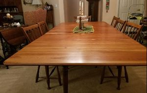 Cherry Dining Table and Chairs for Sale in Northampton, PA
