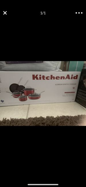 Kitchen aid cookware 10 set for Sale in Hollywood, FL