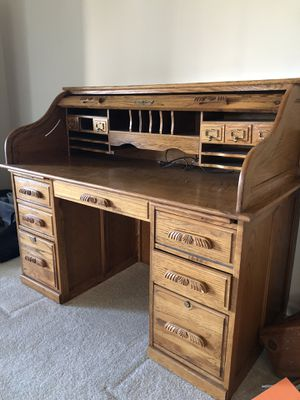 Oak roll-top desk for Sale in Laurel, MD