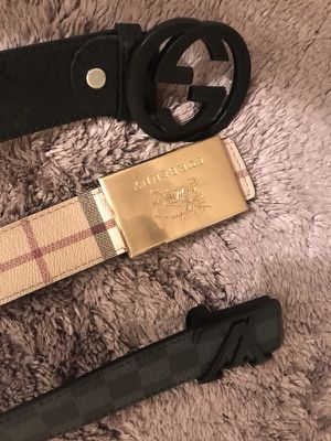 Designer belts Gucci Burberry Louie for Sale in Columbus, OH