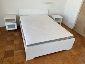 Full size bed frame and mattress for Sale in Fairfax, VA