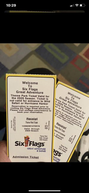 6 flags tickets for Sale in North Haledon, NJ
