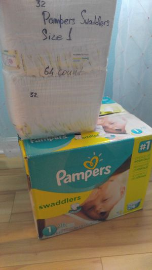 Diapers. Pampers swaddles size 1. 280 count for Sale in Daytona Beach, FL