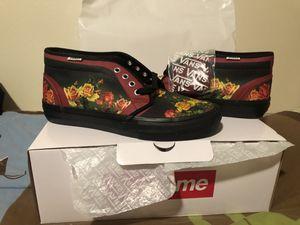 Supreme Vans size 9 Jean Pul Gaultier week 7 floral roses for Sale in Kissimmee, FL