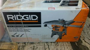 """Lot 207, R4512 New 10"""" Ridgid cast iron table saw for Sale in Sumner, WA"""