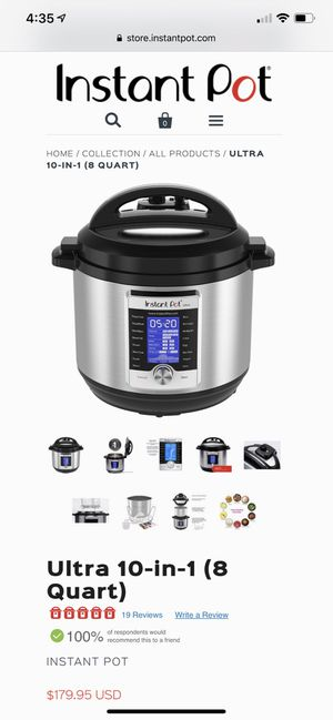 Instant Pot 10-in-1, Ultra, 8 Quart with...New Accessories!!!! for Sale in Lakeland, FL