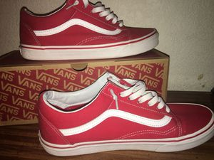Red Old Skool Vans for Sale in Sacramento, CA