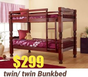 Twin twin bunk bed for Sale in Queens, NY
