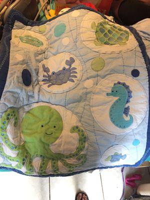 Nautical crib set includes bumper,blanket,valance,crib skirt and crib diaper bag for Sale in Lakeland, FL