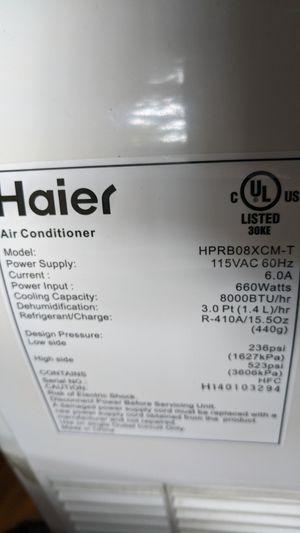 Haier portable AC unit. 8000 BTU for Sale in Hampton, VA