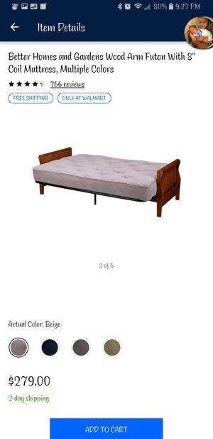 Wooden frame futon for Sale in Pittsburgh, PA