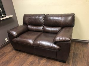 Brown Sofa and round table for Sale in San Diego, CA