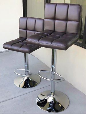 """NEW $40 each 24"""" to 33"""" seat height swivel barstool bar counter high chair dark coffee brown color for Sale in Covina, CA"""