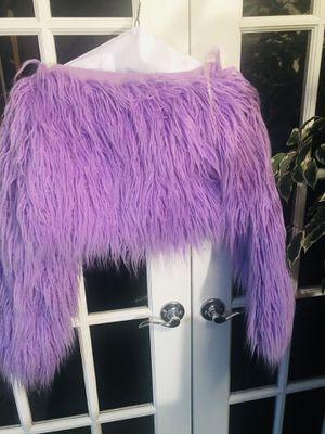 Women's Cropped Shaggy Cardigan for Sale in Auburn Hills, MI
