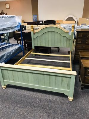 Sage green Queen bed for Sale in Piney Green, NC