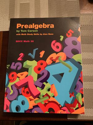 Prealgebra SDCC Math 38 package with access code for Sale in San Diego, CA