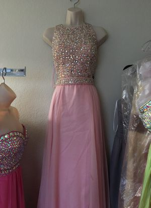 NEW Pink Rhinestone Sequined Evening Gown Dress for Sale in Fairfax, VA
