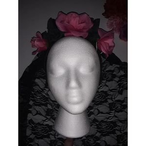 Black and pink roses headpiece for Sale in West Covina, CA