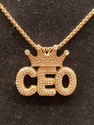 Gold CEO pendant with chain for Sale in Riverdale, GA