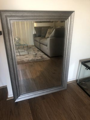 Grey washed mirror for Sale in Rancho Cucamonga, CA