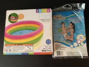 NIB- Baby Pool with a set of Swim Arm Bands for Sale in Ashburn, VA