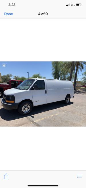 2005 Chevy express cargo van 3500 extended for Sale in Peoria, AZ