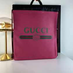 GUCCI Logo GG Pink Leather Backpack Tote for Sale in Los Angeles,  CA