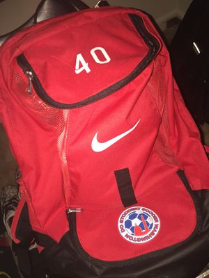 Red Nike Soccer Backpack for Sale in North Bethesda, MD