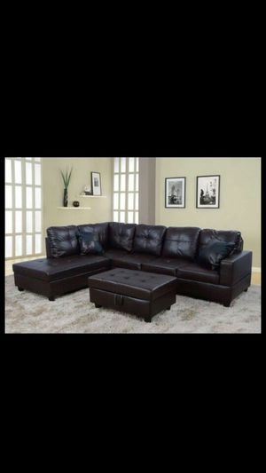 BRAND NEW SECTIONAL COUCH WITH OTTOMAN for Sale in Ontario, CA