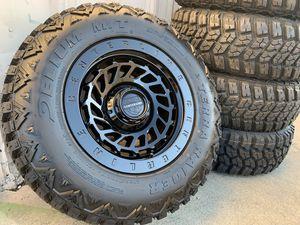 Center Line wheels Mud Tires Jeep Wrangler Gladiator SET OF 5 Rims 5x5 for Sale in Rio Linda, CA