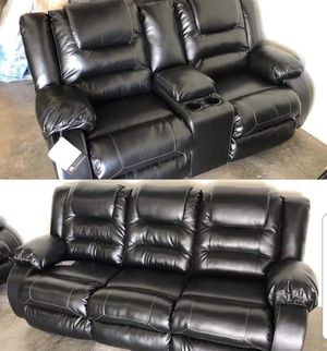 New Black Reclining Sofa and Loveseat for Sale in Maryland Heights, MO