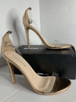 Fashion Nova Rose Gold 4.0 Inch Heels for Sale in Las Vegas, NV