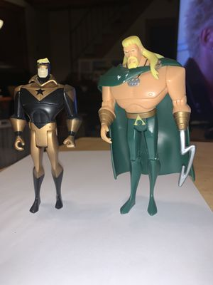 Justice League Figures Aquaman Booster Gold for Sale in Cicero, IL