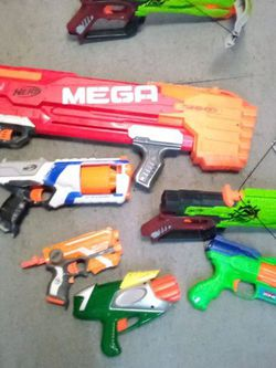 7 Nerf Guns Miscellaneous Great For A Nerf Gun Party No Ammo for Sale in Compton,  CA