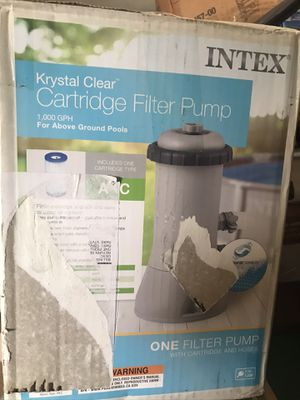 Cartridge filter pump for Sale in Fresno, CA