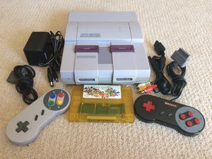 Refurbished Super Nintendo with 68 Games in 1 Cartridge for Sale in Rogers, MN