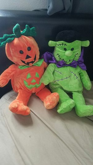 Halloween plush Frankenstein and pumpkin for Sale in Palm Bay, FL