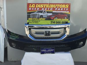 2009-2010-2011 HONDA PILOT GRILLE COMPLETE WITH FOG LIGHTS FRONT BUMPER for Sale in Dallas, TX