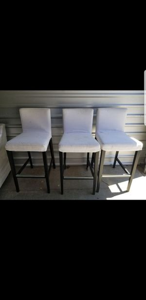 Three bar stool height chairs, comfortable, covers come off and can be washed. Asking $100 for Sale in Gilbert, AZ