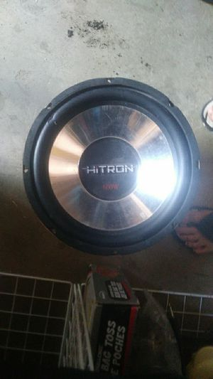 HiTron 600W car subwoofer / 1 omb stable for Sale in Salt Lake City, UT