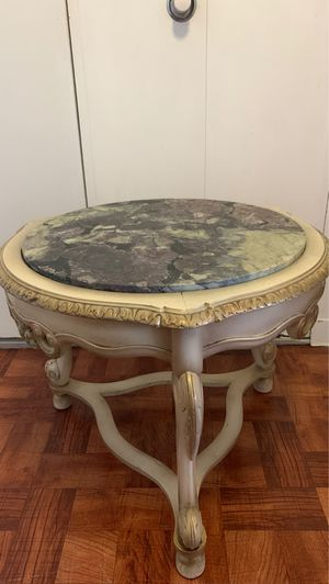 Antique wooden marble service coffee table for Sale in New York, NY