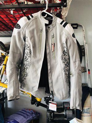 Ladies Joe rocket atomic motorcycle jacket padded size large for Sale in Merritt Island, FL