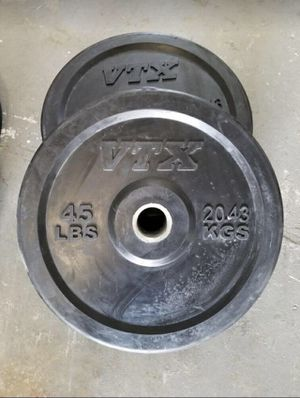 2 45 pound bumper/weight plate for Sale in Miami, FL